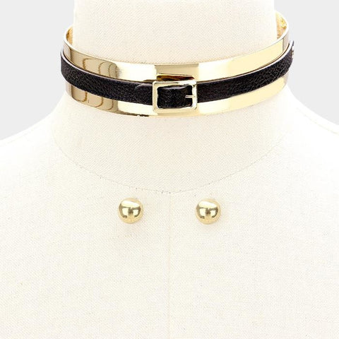 Belted Choker -Affordable Fashion Online Boutique