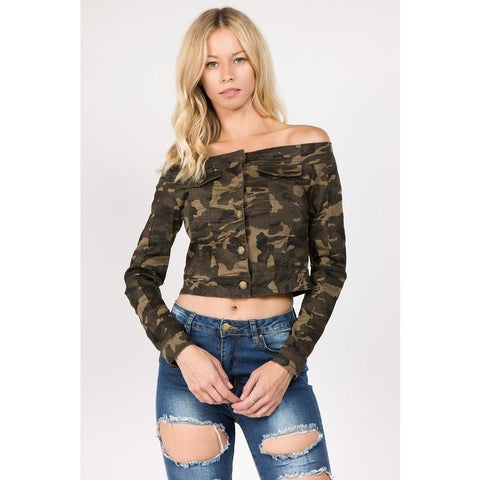 Camo Crop -Affordable Fashion Online Boutique