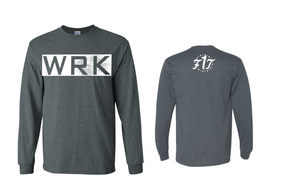"Long Sleeve ""WRK"" Charcoal Grey"