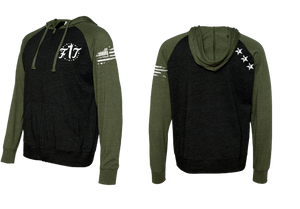 Unisex F1T Light Weight Zip Ups - Army Green