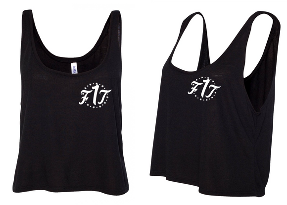 "Women's Crop Top Tank ""Black"""