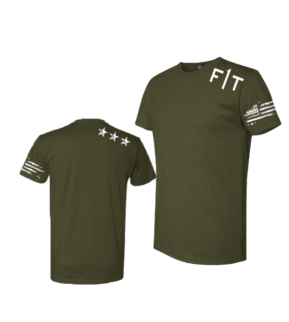F1T Men's Fitted T-Shirt - ARMY GREEN