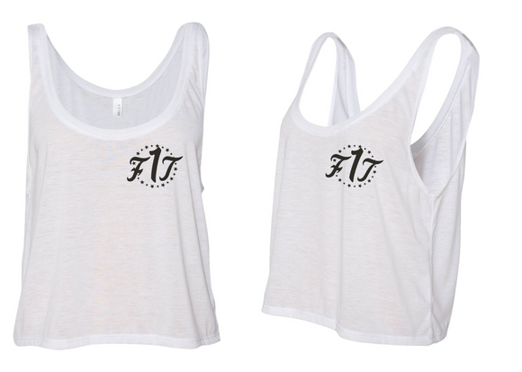 "Women's Crop Top Tank ""White"""