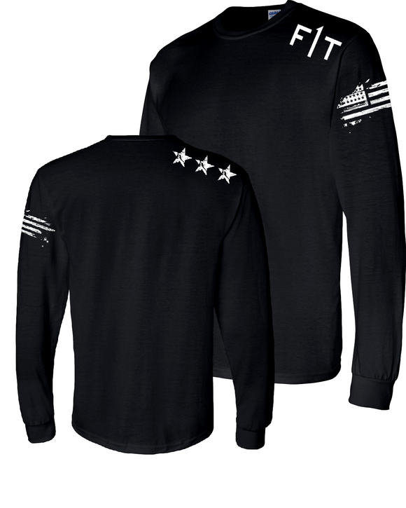 F1T- Men's Long Sleeve - BLACK