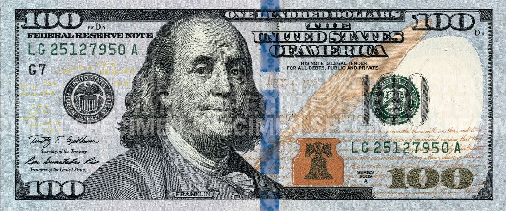 Security Features in US Currency - Bill Counters Detect Counterfeits