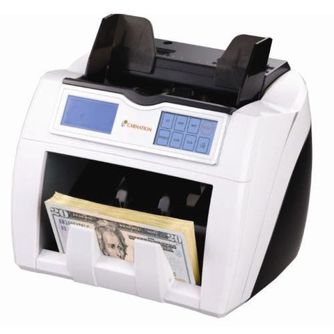 Counterfeit-detecting money counter