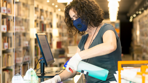 how to disinfect books