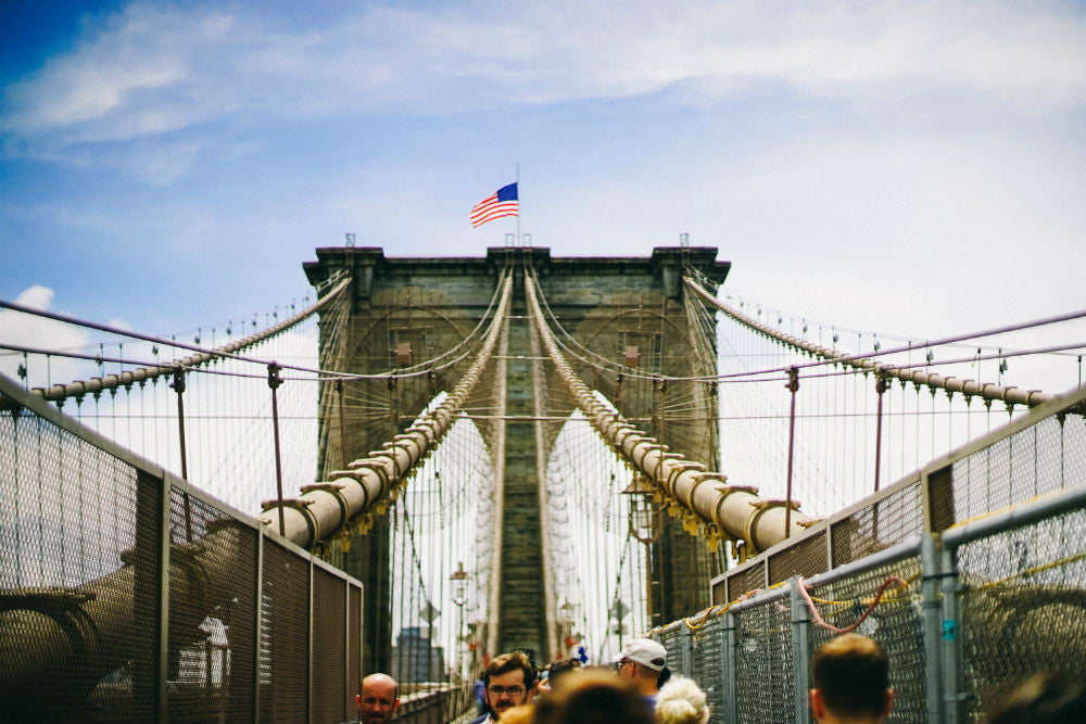 Brooklyn bridge, symbol of independence. Great Bridge of America
