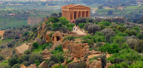 Ancient Greek Temples Ruins in Sicily