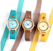 Double Wrap Bamboo & Leather Time Piece