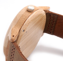 The Bamboo Leather Time Piece