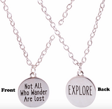 Wander's Not Lost! Pendent & Necklace