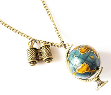 Binocular & Globe Long Necklace