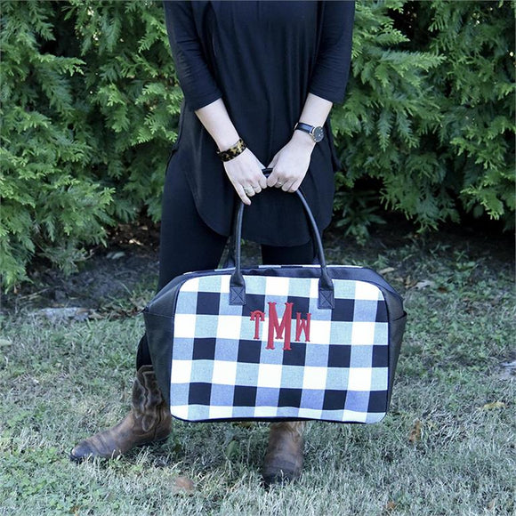 Buffalo Plaid Duffle Bag