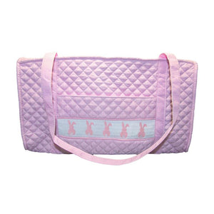Smocked Gingham Duffle Bag