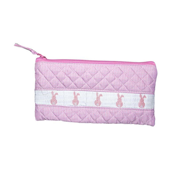 Smocked Gingham Accessory Pouch