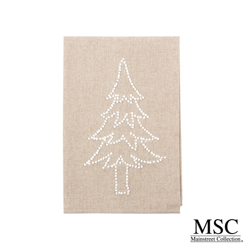 French Knot Holiday Hand Towel
