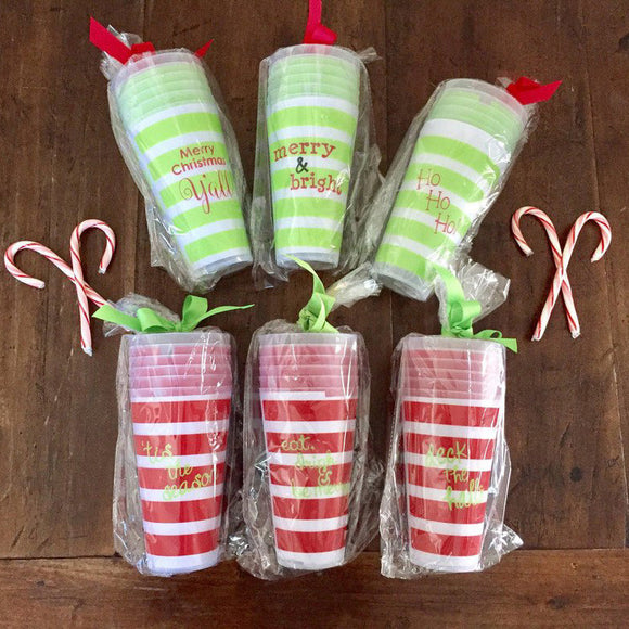 Holiday Tumblers- Set of 6