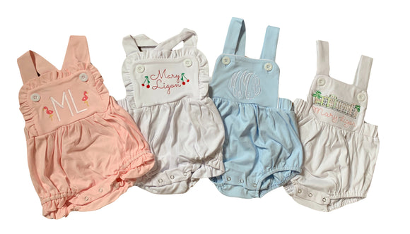 Cotton Sunsuit Bubble- Girl + Unisex