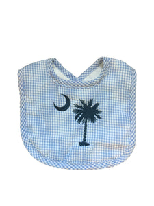 Palmetto Tree Seersucker Bib