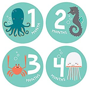 Monthly Baby Growth Stickers - Ocean Collection