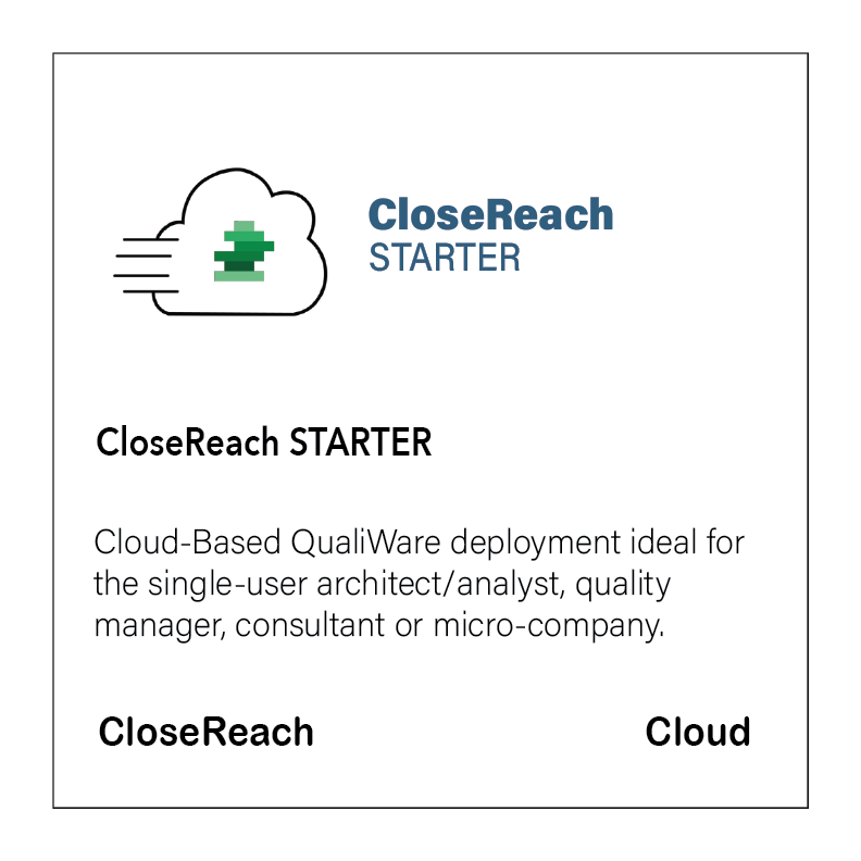 CloseReach Cloud SaaS Starter Package. Click to buy now.