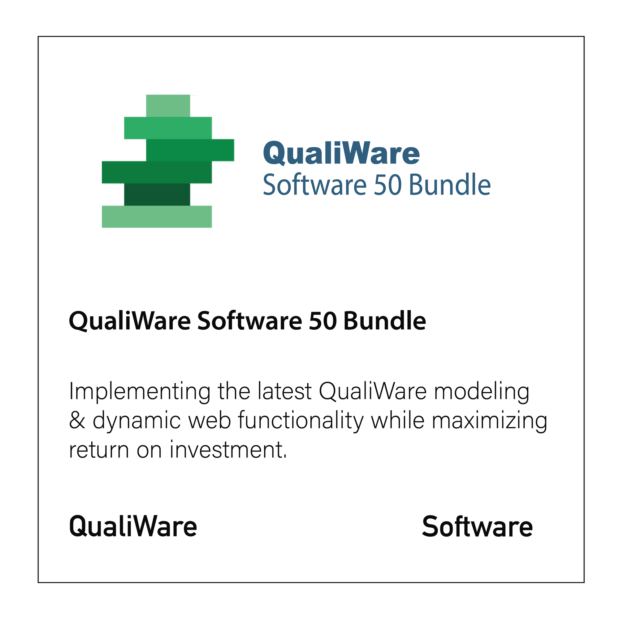 QualiWare Software 50 Bundle - CloseReach Ltd