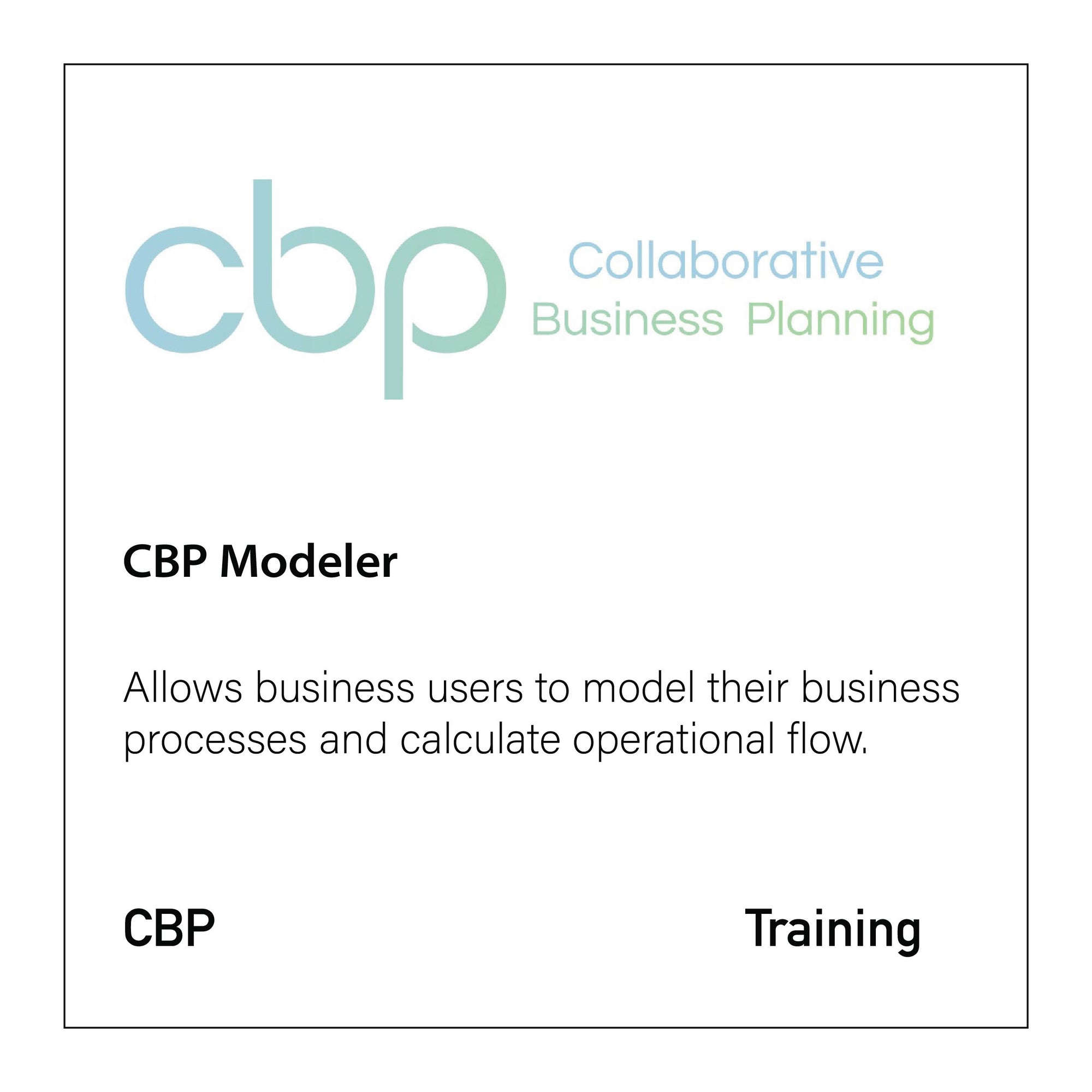 CBP Modeler - CloseReach Ltd