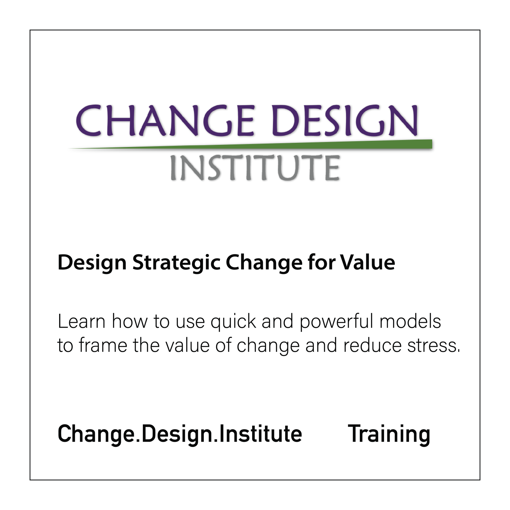 Strategic Change by Design – Design for Value - CloseReach Ltd