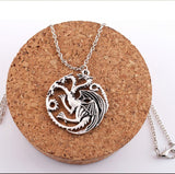 Best Quality Song Of Ice And Fire Game Of Thrones Targaryen Dragon Badge Necklace  C54-C56