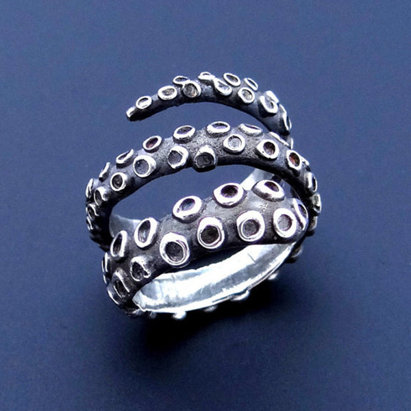 New Tentacle Ring Antique Style Octopus Jewelry Adjustable Ring Made of  Ancient Silver Plated