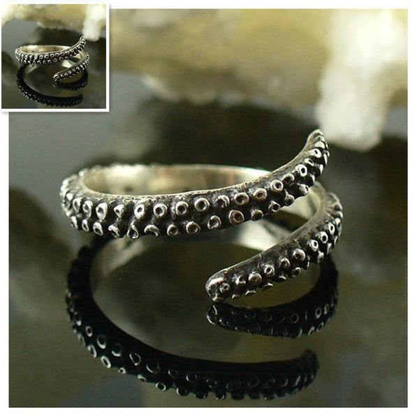 Retail Tentacle Ring  Band Octopus Ring  Seductive Tentacle Ring in Rose Gold /Ancient Silver  Plating Octopus  adjustable size