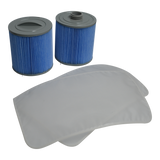 GLACIER MICROBAN® 100 SQ FT FILTER SET - 2 PACK & PRE-FILTER ( Fresh Water Kit )