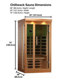 Ex Display - Chilliwack 2-Person FAR Infrared Sauna - 12 Month Warranty