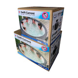 PACKAGE DEAL -SWIFT CURRENT V2 HOT TUB THERMAL HARD COVER & STARTER CHEMICAL KIT