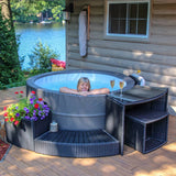 Canadian Spa Swift Current V2 Hot Tub, 5 Piece Furniture Surround Package Deal