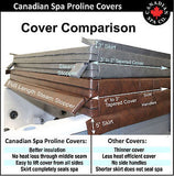 "Canadian Spa Co. Proline 4"" to 3"" Thick Tapered Spa Covers"
