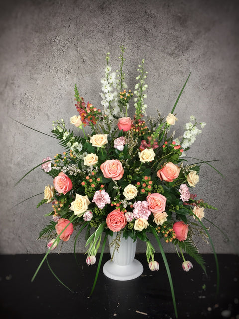 UA-3 Deluxe Harmony Color Urn Arrangement