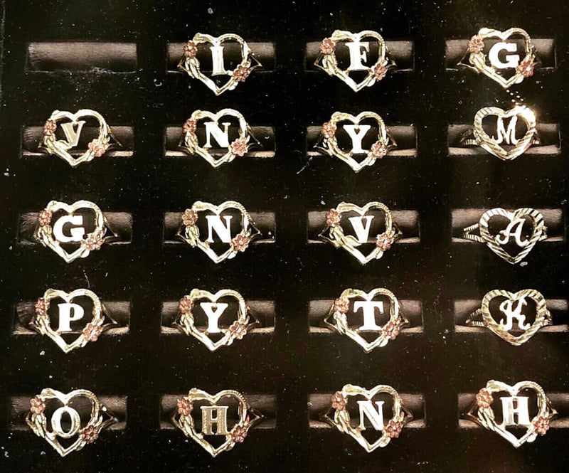 TESSA HEART INITIAL RING