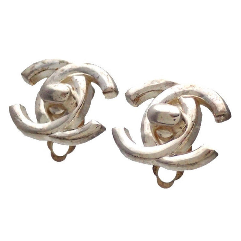 CHANEL TURN LOCK EARRINGS