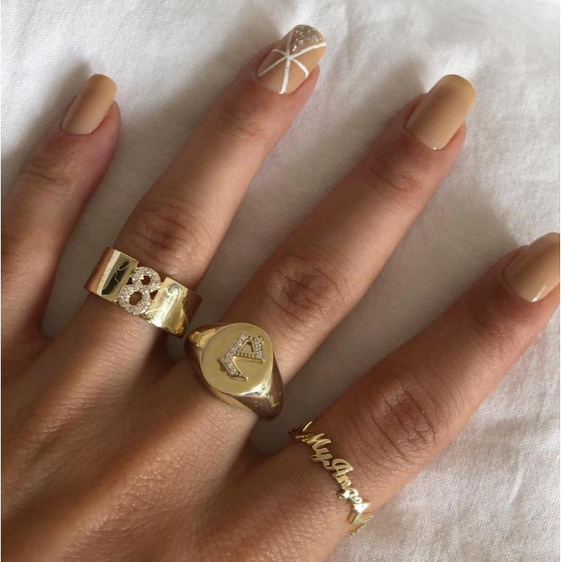 BECCA NUMBER RING