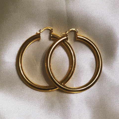 LUNA OVAL TUBE HOOPS