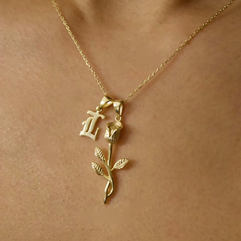 LYLA ROSE INITIAL NECKLACE