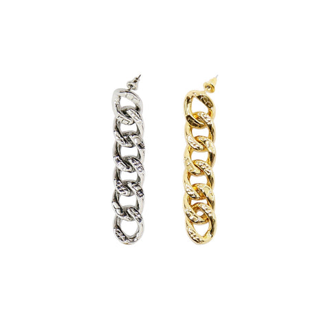BLAKE CUBAN LINK EARRINGS