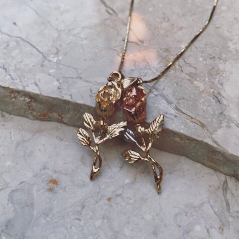 14K AUTUMN ROSE NECKLACE