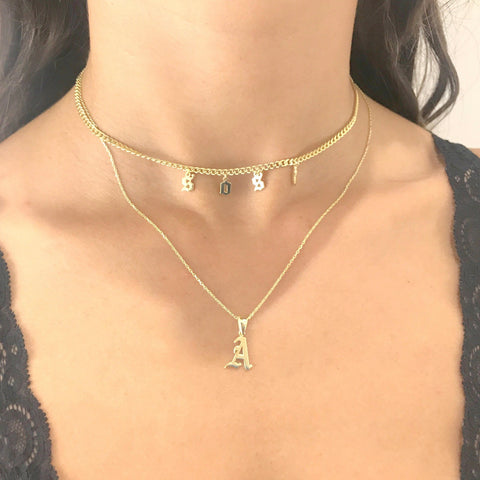 MAEVE CUSTOM CURB NECKLACE
