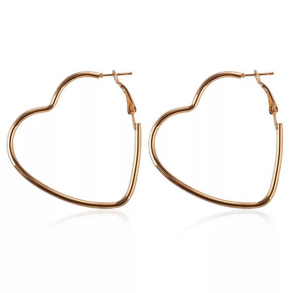 SERRAH HEART HOOP EARRINGS