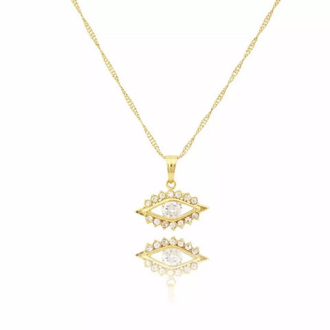 GIA MINI CROSS NECKLACE