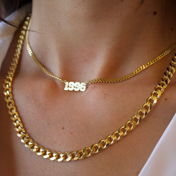JANELLE THICK CURB NECKLACE