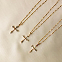 ZARA CUBIC ZIRCONIA CROSS